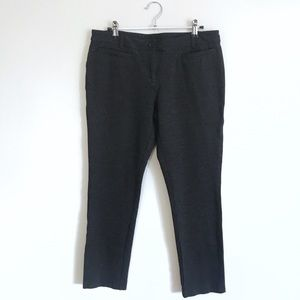 INC Dark Gray Stretch Knit Career Work Ankle Pants